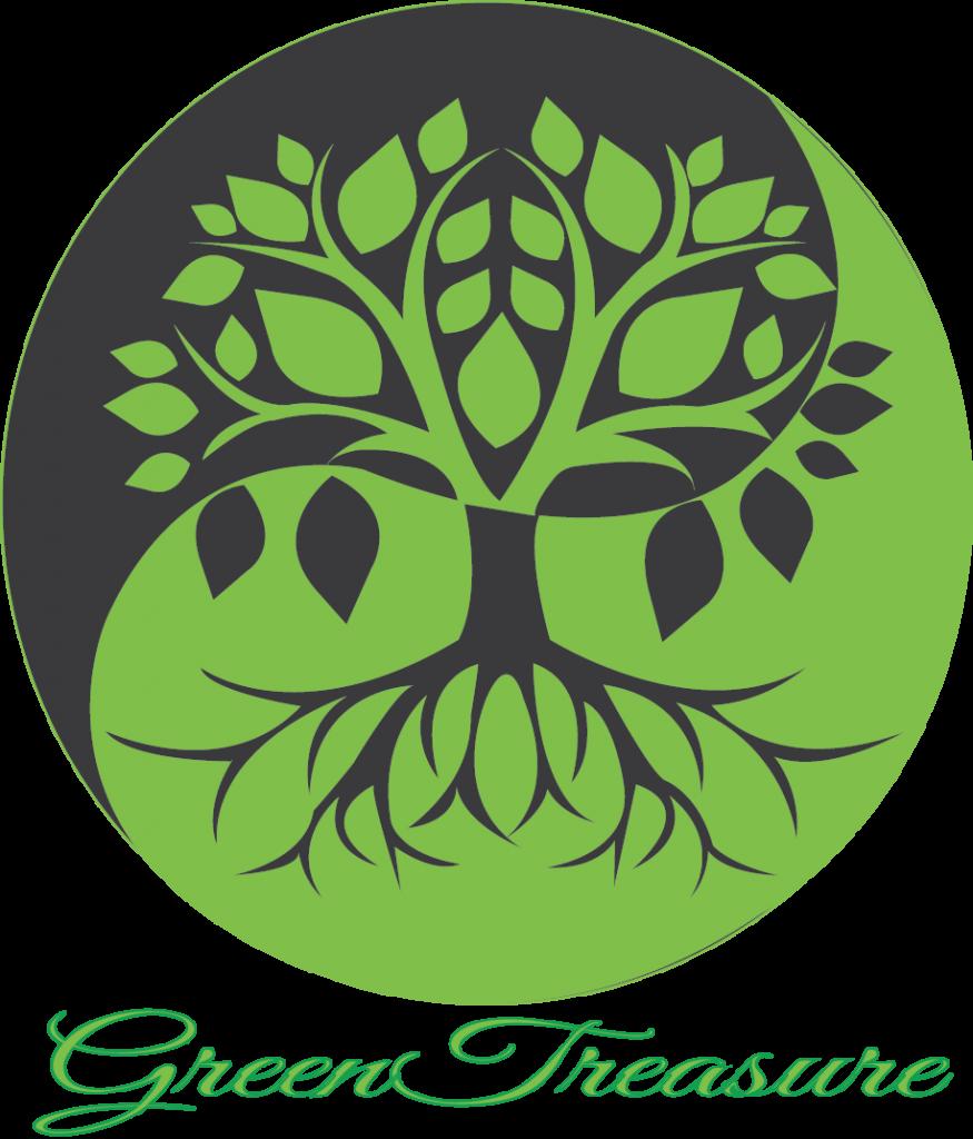 saját logó szöveggel világoszöld szürke háttérrel